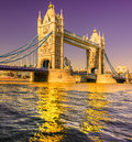 Tower bridge london uk view of Stock Photography