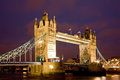 Tower Bridge Night Royalty Free Stock Photography