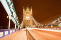 Tower Bridge Night Stock Image