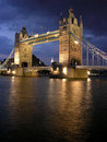 Tower Bridge by night Stock Photo