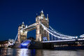 Tower bridge at night london Royalty Free Stock Photography