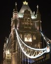 Tower Bridge at night. London. England Royalty Free Stock Photo