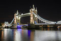 Tower bridge at night london england united kingdom Stock Photography