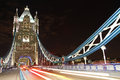Tower bridge at night london england united kingdom Stock Photo