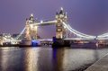 Tower bridge at night london uk march Royalty Free Stock Photo