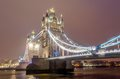 Tower bridge at night london uk march Royalty Free Stock Image