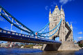 Tower bridge on the river thames in hamlets london england during the day with a clear blue sky Stock Image
