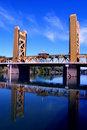 Tower Bridge, Sacramento Royalty Free Stock Photo