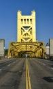 Tower Bridge, Sacramento, California Royalty Free Stock Photo