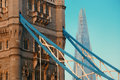 Tower bridge with shard as the city landmark Stock Photography