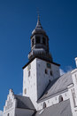 The tower of Budolfi Church, Aalborg, Denmark Royalty Free Stock Photo