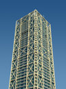 Tower building with external metallic structure Royalty Free Stock Photo