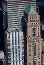 Tower Buildings in Manhattan Stock Images