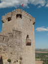 Tower of castle of Almodovar del Rio Stock Photos