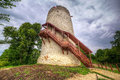 Tower of the castle in kazimierz dolny at vistula river poland Stock Images