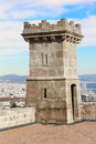 Tower castle montjuic barcelona spain Royalty Free Stock Photography