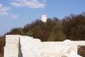 Tower castle ruins in Kazimierz Dolny, Poland Royalty Free Stock Photo