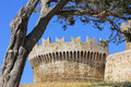 The tower of a castle in Tuscany Stock Image