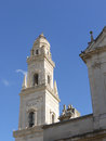 The tower of the cathedral of lecce in italy a detail apulia Stock Photography