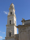 The tower of the cathedral of lecce in italy a detail apulia Stock Images