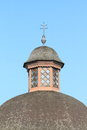 Tower of a chapel in rimov baroque village czech republic Royalty Free Stock Photos