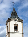 Tower of city cathedral in levoca slovakia summer day Stock Photos