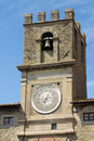 Tower of city hall of cortona in tuscany italy Stock Images