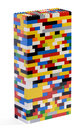 Tower constructed of colorful bricks Royalty Free Stock Photo