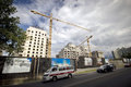 Tower cranes building building Royalty Free Stock Photo