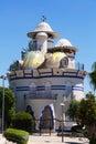 Tower of the cross torre de la cruz in modernism style sant joan despi spain june barcelona spain Royalty Free Stock Images