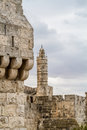 The Tower of David and Old City Wall of Jerusalem, Israel