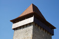 Tower a defense from rasnov fortress in transylvania romania Stock Photo