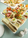Tower Of Finger Food Stock Photos