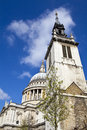 The tower of the former st augustine church and st paul s cath cathedral in london Stock Photography