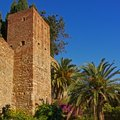 Fortified tower of the Alcazaba moorish castle, Malaga