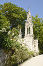 Tower in gardens of quinta da regaleira garden is an estate located near the historic center sintra portugal Royalty Free Stock Photo