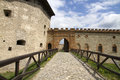 Tower and gate to the fortress medzhybizh western ukraine Royalty Free Stock Photography
