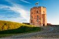 Tower Of Gediminas - Gedimino - In Vilnius Royalty Free Stock Photo