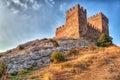 Tower of Genoa fortress in Sudak Crimea Royalty Free Stock Photo