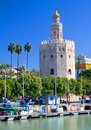 The Tower of Gold, in Seville, Southern Spain Stock Photos