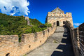 Tower on the great wall of China Stock Photo
