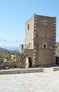 Tower house in Vathia Royalty Free Stock Photo