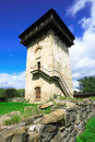 Tower at humor monastery in bucovina moldavian achitecture of exterior gura humorului village romania Stock Images