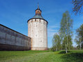 Tower of the Kirillo-Belozersky monastery Royalty Free Stock Photography