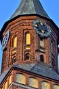 Tower of Koenigsberg Cathedral, Gothic temple of the 14th century. Symbol of Kaliningrad until 1946 Koenigsberg, Russia Royalty Free Stock Photo