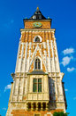 Tower in krakow the center of poland Royalty Free Stock Photo