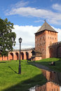 Tower of kremlin in veliky novgorod russia Royalty Free Stock Photos