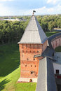 Tower of kremlin in veliky novgorod russia Stock Image