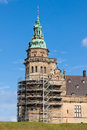 Tower kronborg castle in elsinore helsingor denmark Royalty Free Stock Photos