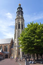 Tower Lange Jan of Norbertine Abbey, Middelburg Royalty Free Stock Photo